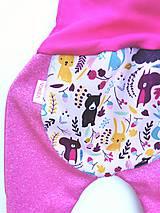 """Detské oblečenie - Softshellky """"lesné zvieratká"""" - 12266299_"""