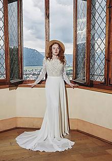 Šaty - Svadobné šaty s dlhým rukávom vhodné aj na leto - 12266656_
