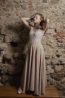 Šaty - Šaty na ramienka s kruhovou sukňou rôzne farby - 12266659_