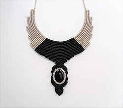 Náhrdelníky - Macramé náhrdelník Fúzia 2 - 12265770_