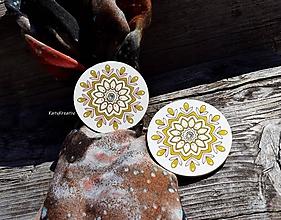 Úžitkový textil - štipec na záves mandala - 12268267_