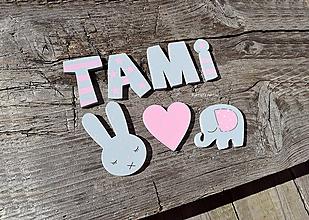 Detské doplnky - TAMI...písmenká so samolepom - 12269213_