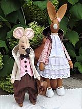 Bábiky - Myšiak v svetlom kabáte - 12269747_