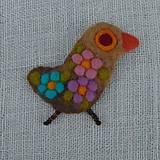 Odznaky/Brošne - ...plstená brošňa - vtáčik... - 12268107_
