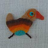 Odznaky/Brošne - ...plstená brošňa - vtáčik... - 12268127_