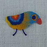 Odznaky/Brošne - ...plstená brošňa - vtáčik... - 12268144_
