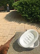 Nádoby - Biela mydelnička - 12268016_