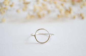 Prstene - Strieborný prsteň- Krúžok - 12267977_