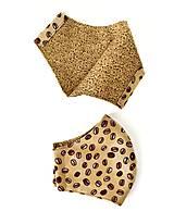 Rúška - Dámske rúško tvarované, 100 % bavlna (S krajkovým vzorom tmavé) - 12269318_