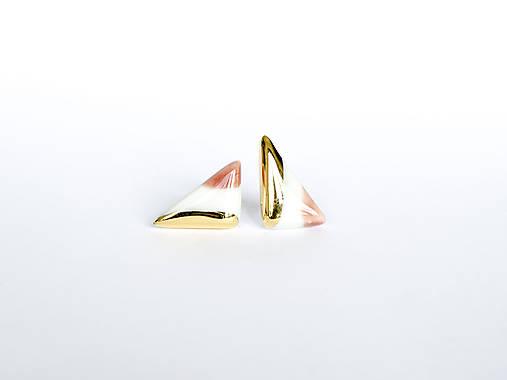 Náušnice - nežná geometria - 12268672_