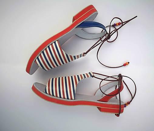 Obuv - Sailor sandalky - 12270465_