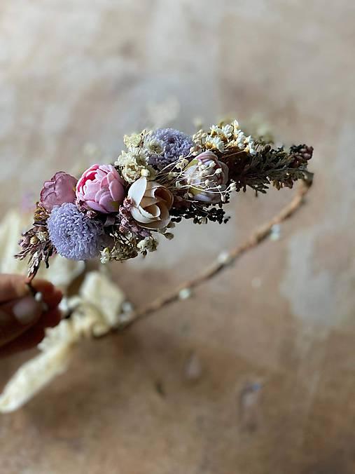 """Jemný kvetinový venček """"bozk na rozlúčku"""""""