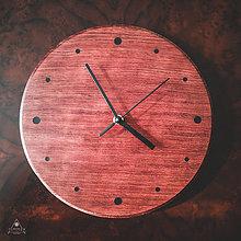 Hodiny - Africana - Bubingové drevené hodiny - 12268883_