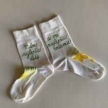 Obuv - Maľované ponožky pre najlepšiu MAMU, ktorá má najlepšie deti (s kvetinkami) - 12267688_