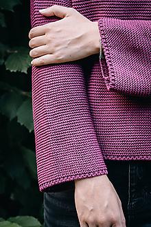 Svetre/Pulóvre - Fialový sveter LEA - 100 % bavlna - 12270819_