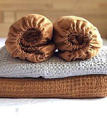 Úžitkový textil - Ľanová plachta s gumičkou - 12269850_