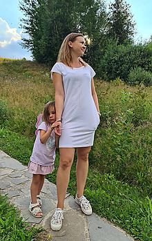 Šaty - Šaty rovný strih M15 - biele, čierne bodky - 12268692_