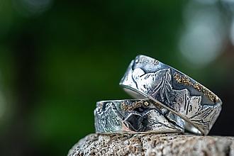 Prstene - Láska hory prenáša ... pod nočnou oblohou - 12273451_