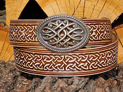 Kožený opasok s prackou - Ornament 2