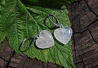 Náušnice - rosa -heart-ruženín.srdce- (ruženín heart-naušnice srdiečka) - 12270906_