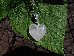 Náušnice - rosa -heart-ruženín.srdce- (ruženín-srdce-na retiazke-ch.o.) - 12270913_