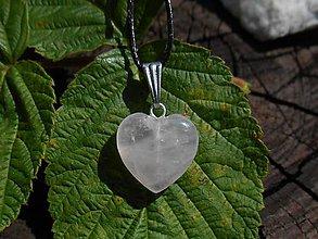 Náušnice - rosa -heart-ruženín.srdce- (ruženín-srdce-na šnúrke-ch.o.) - 12270917_
