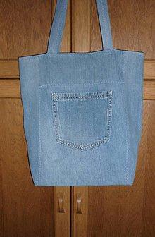 Nákupné tašky - Ríflová taška (modrá) - 12273847_