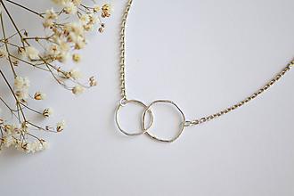 Náhrdelníky - Strieborný náhrdelník - Vánok - 12273593_