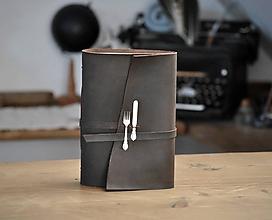 Papiernictvo - kožený zápisník - receptár CULINARIO - 12271161_