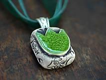Náhrdelníky - Zelené....č13 - 12272071_