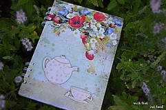 Papiernictvo - Receptárik - rastlinky, vidiek - 12274054_
