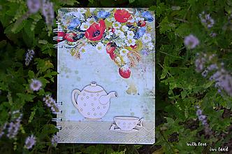Papiernictvo - Receptárik - rastlinky, vidiek - 12274055_