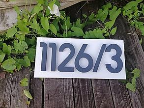 Tabuľky - Popisné číslo s podkladom - 12273116_