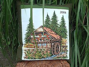 Úžitkový textil - vankúš Chalúpka - 12271229_