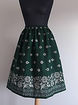Sukne - Sukňa bordúra zelená - 12270886_
