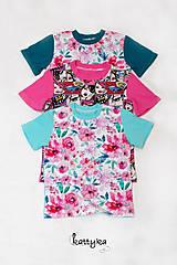 Detské oblečenie - Sada troch dievčenských tričiek - 12273082_