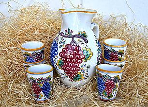 Nádoby - Praktická sada 2: Vinový džbán s pohármi - 12275825_
