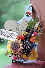Jesenná dekorácia na dvere