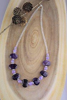 Náhrdelníky - ametyst náhrdelník luxusný - 12274619_