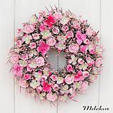 Dekorácie - Romantický ružový veniec - 12276226_