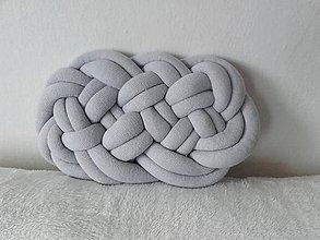 Úžitkový textil - CLOUD vankúšik  (Šedá svetlá) - 12274572_