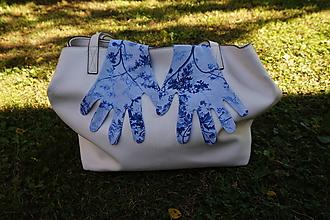 Rukavice - Úpletové rukavičky - svetlé modré - 12276402_