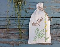 """Úžitkový textil - ľanové vrecko na bylinky """"Repík"""" - 12276381_"""