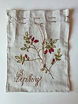 """Úžitkový textil - ľanové vrecko """"Šípky"""" - 12276521_"""
