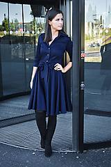 Šaty - Košilové šaty SARA, indigo modrá - 12280361_