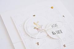 Papiernictvo - Pozdrav pre bábätko - zajačik v klobúku - 12280391_