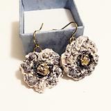 Náušnice - zvláštne kvety /keramika/ - 12280862_