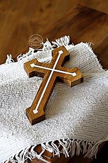 Dekorácie - Kríž dubový II. - 12277578_
