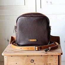 Kabelky - Dámska kožená kabelka *Mocha brown* - 12278792_
