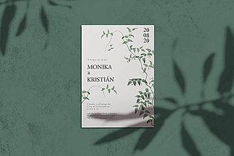 Papiernictvo - svadobné oznámenie 032 - 12279874_